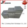 Vacuum brazed air cooled aluminum cooler core in heat exchanger