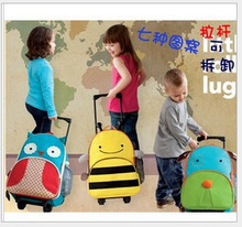 C55065S korean cute animal design children rolling suitcase bags
