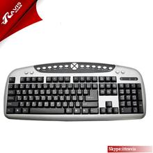 Hot sale multimedia mechanical multi language USB /PS2 wired computer keyboard