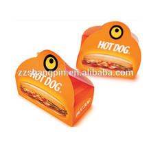 Custom print hot dog packaging box with handle
