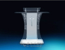 Exquisite patterns design acrylic church podium/clear acrylic church pulpit