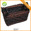 ZX2047 Wholesale Three Pcs Handmade Basket Rectangular Storage Basket