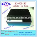 Singapur máquina dedicada hd-c600 blackbox de tv por cable caja de singapur digital tv box blackbox hd-c600 cable set top box