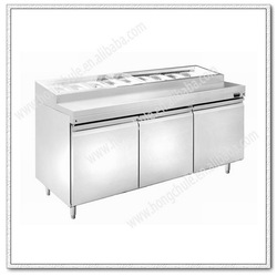 CP174 Stainless steel refrigerated pizza bar equipment