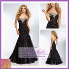 2014 New Custom Made Sweetheart Black Satin Lace Beading Diamond Elegant Evening Dress Party Dress Long Formal Dresses