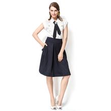 Yigelila 2015 para mujer de las muchachas el último otoño nuevo blanco de seda camisa de la blusa 7237