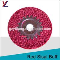 spiral felt jute flax buffs to stainless steel holloware