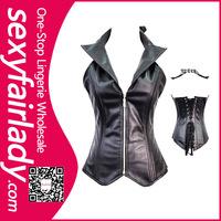 Newest 2014 leather zipper girdle