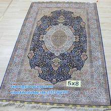 5'x8' Fine Tree of Life Silk Carpet Double Knots Persian Carpet Handmade Rug