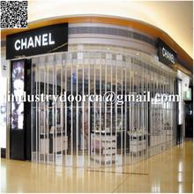 shopfront şeffaf pc plastik sürgülü kapı