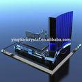 Bel cristallo di vetro, prodotti di vetro cristallo, edificio di vetro di cristallo, modello di cristallo