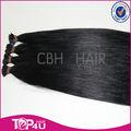 Venta al por mayor 100% hight quality italiano queratina de la cutícula remy de la virgen natural del pelo humano extensiones de cabello tips i