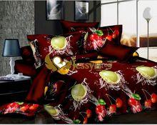 luxury design 3D printing bedding set/comforter set/bedsheet/bed linen