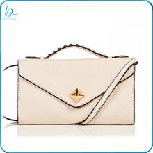 2014 Elegant fashion design small studded ladies leather vanity shoulder bag