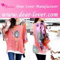 china wholesale roupa floral print chiffon blusa manga longa