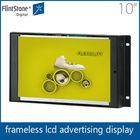 "Flintstone 10"" frameless china xxx video screen tv wall mount advertising screen display"
