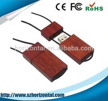 Free sample fashion design wooden 32GB bulk flash drives lanyard usb