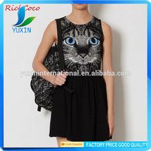 Women dress, oem cat dress ,woman dress factory D040
