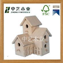 indoor decorative unfinished handmade wooden bird house