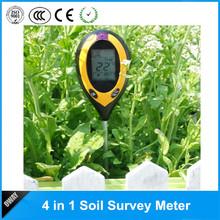 Multifunctional 4 in1 Plant Soil Meter PH Temperature Moisture Sunlight Tester