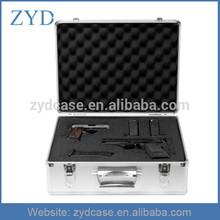 Top Performance Hard Metal Lockable Aluminum Pistol Suitcase With Foam Pading ZYD-HZMgc009
