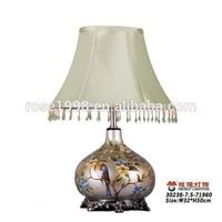 bird ceramic table light art decor