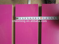 melamine MDF slat board used for shop display