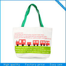 2014 Green China Manufacturer New Style 100% Cotton Custom Logo Shoulder Tote Bag make Cotton road Bag
