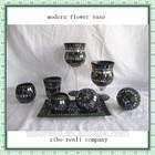 Home Decoration Black Mosic Single Modern Flower Vase