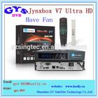 Jynxbox V7 ultra HD satellite decoder with fan Jynxbox ultra hd V7 set top box