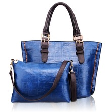 wholesale handbags import from china crocodile textured handbag cowhide bags