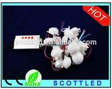 WS2811 pixel led module D45mm DC12V 3LEDs 5050 RGB led point light 20pcs/lot