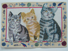 Hotsell cat knitted pool table mat