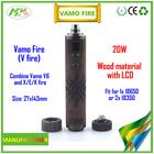 High quality mechanical mod vv vw ecg mod vamo fire clone alibaba china hot sell e cigarette vamo v6