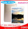 "9.7"" IPS Retina quad core Android 4.3 tablet PC 2GB 32GB"