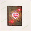 Memorial Valentine Day's Gifts LED Lights Writing Notebook