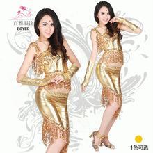 Charming Golden Sequins Tassel Latin dance Dress/Wear