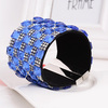 WLLB023 Top sale Rhinestone Leather Bracelet,strass magnetic snap bracelet