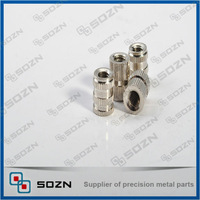 Nickel plated steel inserts for filing cabinets