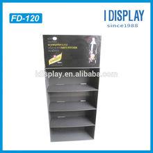 point of purchase floor files display racks for drinks bottles