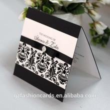 2014 Custom Elegant Decorating Wedding Cards