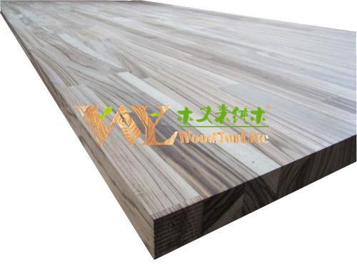 vinger gezamenlijke zebrano keuken werkbladen zebrano hout tafelblad