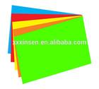 Fluorescent color paper sheets