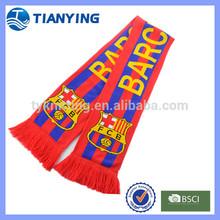 custom football club team jacquard fan scarves