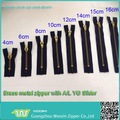 different size of high quality antique brass teeth zipper for jeans