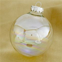 open hollow glass decorative balls for christmas ornament with high quality