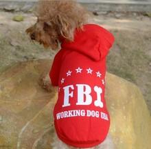 2015 fashion FBI printing dog sweater/pet clothes