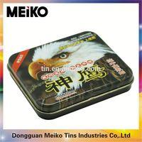 round cigarette ash tin box