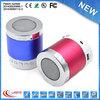 Laptop metal shell colorful round shape mini portable speaker