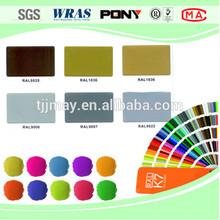 Epoxy /polyester hybrid metallic paint